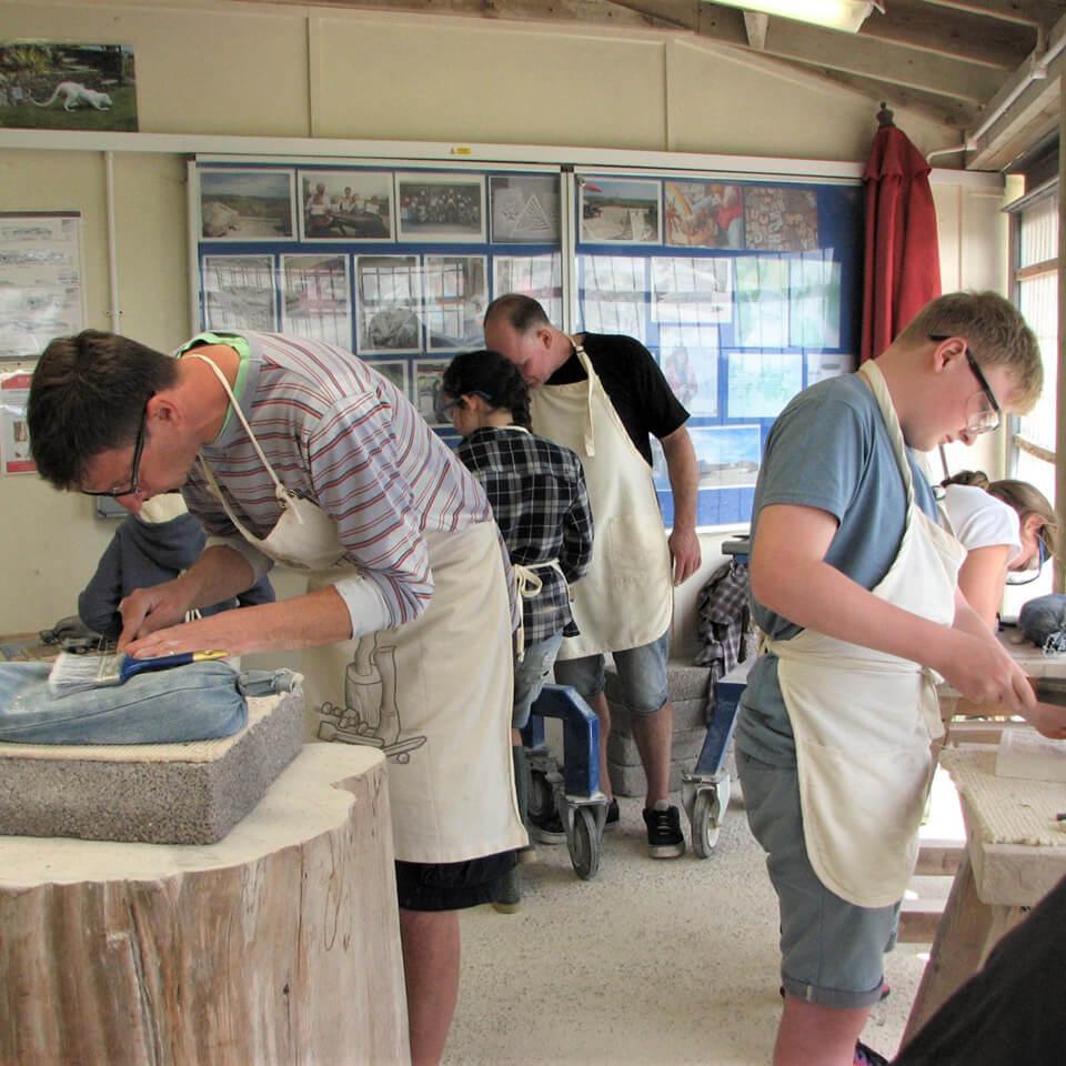 Burngate Stone Carving Centre workshop session
