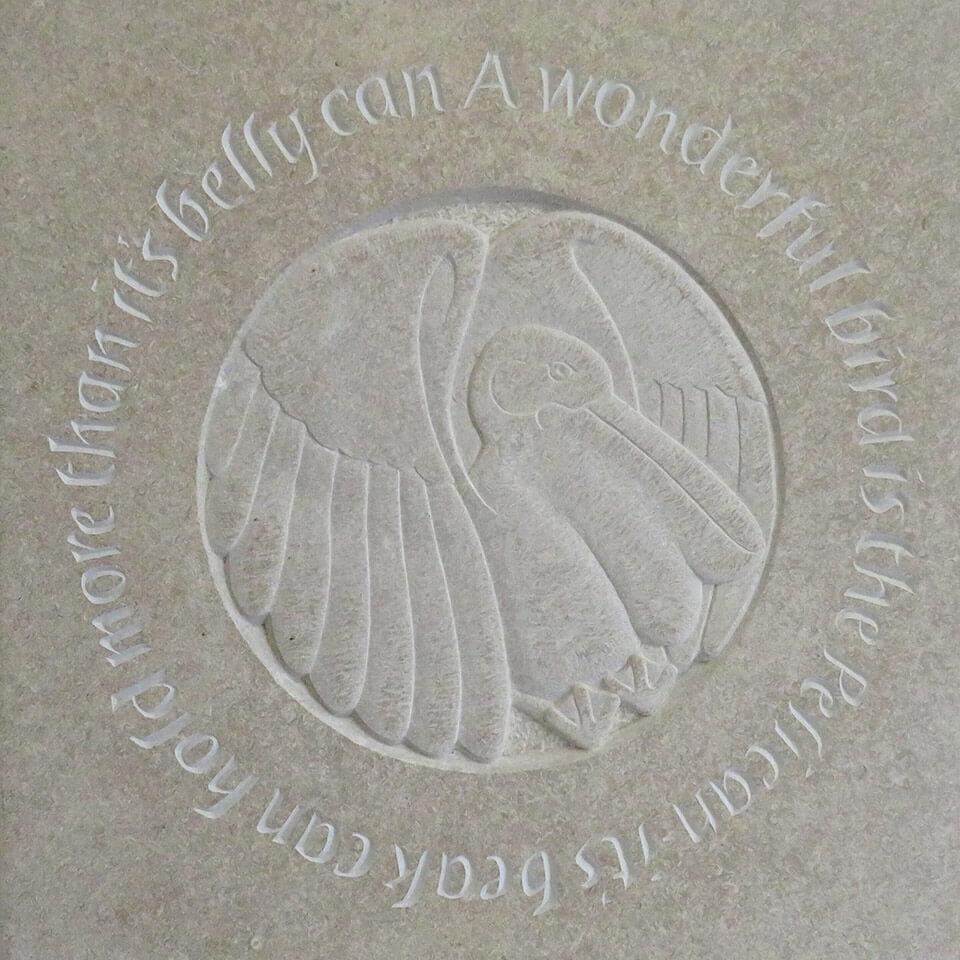 Burngate Stone Carving | Pelican