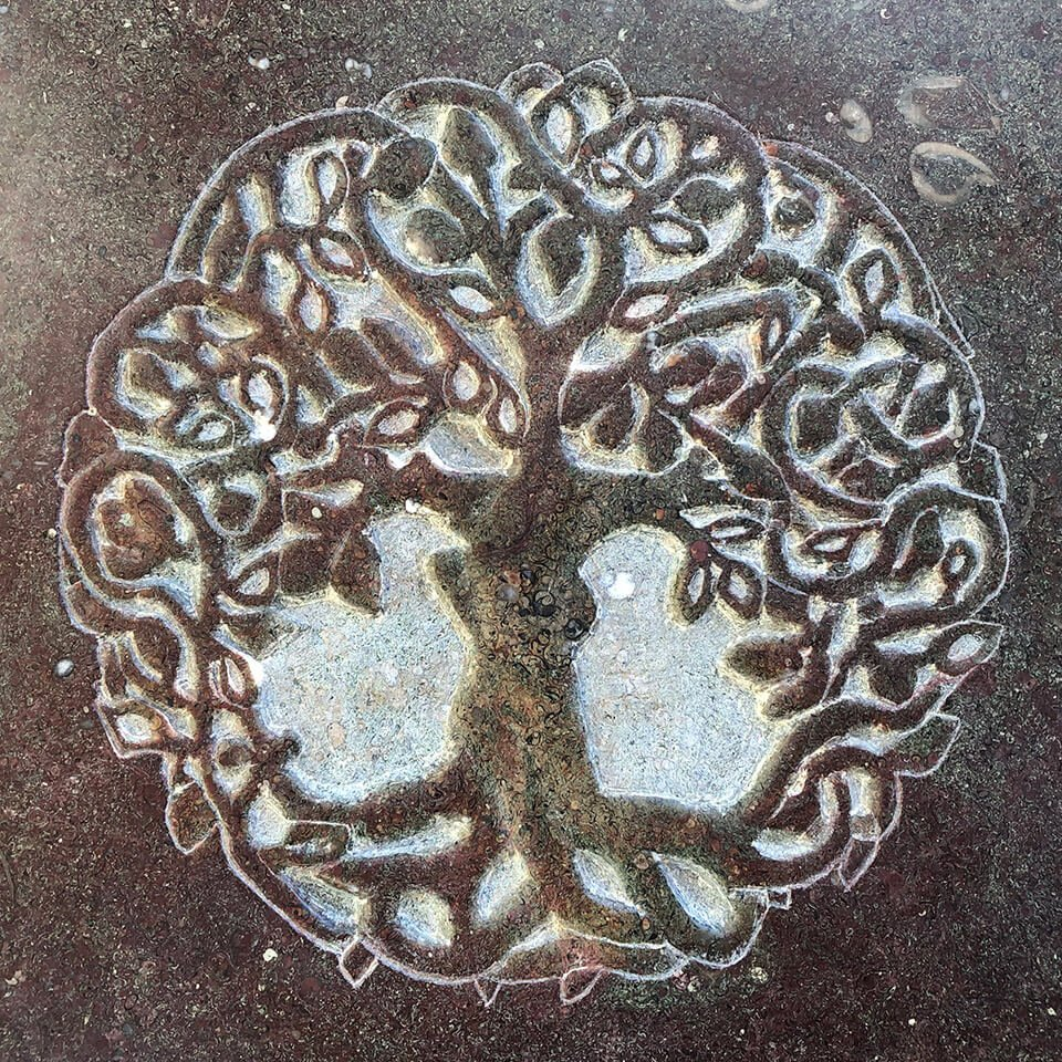 Burngate Stone Carving | Tree of Life Sculpture
