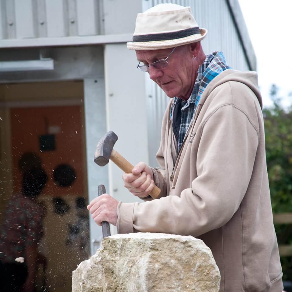 Burngate Stone Carving | Val Quinn