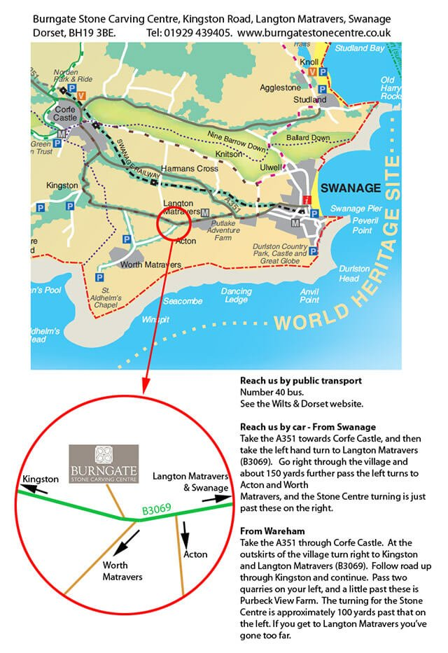 Click on the image to download a printable map with directions to the centre by car or public transport.