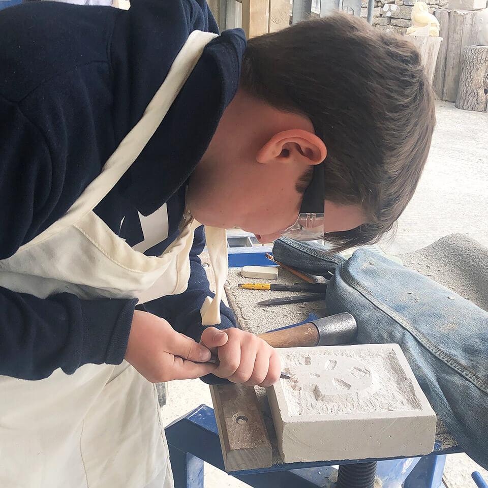 Burngate Stone Carving Centre children's classes