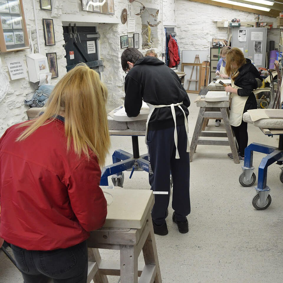 Burngate Stone Carving Centre family classes